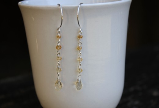 citrine dangle ombre earringsa (14) yes