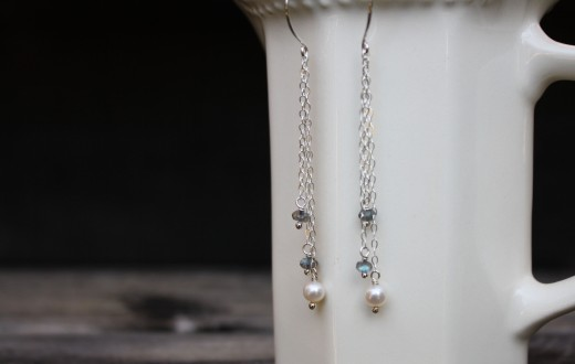 freshwater pearl and labradorite drop earrings (2)