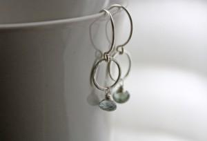 aaa moss aquamarine argentium silver circle dangle earrings (11)