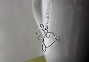 argentium silver music heart pendant necklace bass clef treble clef heart artisan pendant (21)