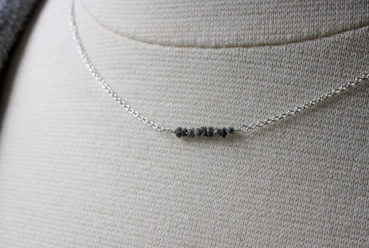 conflict free rough diamond necklace 16in