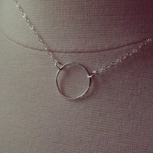 half hammered eternity necklace