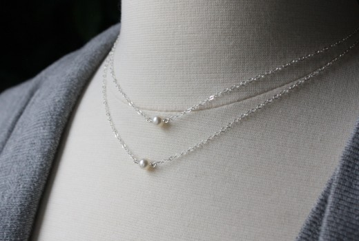 freshwater pearl duo necklace sterling silver double necklace (8)
