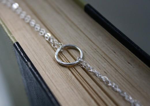 argentium silver half hammered eternity bracelet