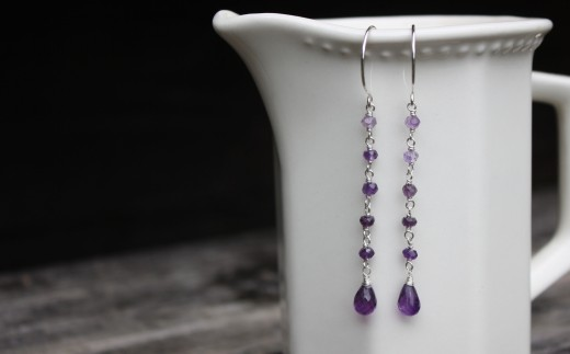 amethyst ombre earrings dangle drop  (4)