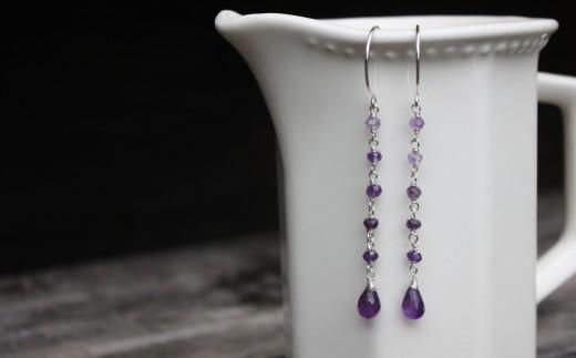 amethyst ombre earrings dangle drop  (4)