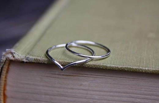 argentium chevron reg stack ring 2