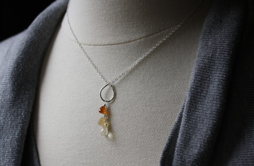 citrine waterfall necklace 1